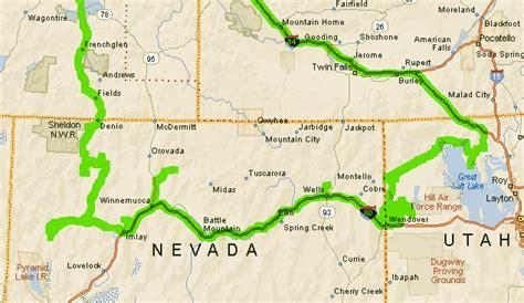 road map nevada usa southwest road trip 2007 usa road trips