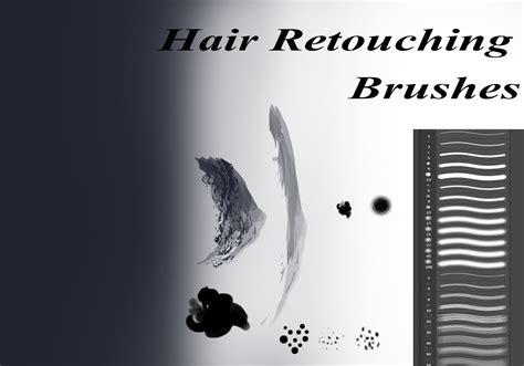 hair retouching brushes  photoshop  photoshop