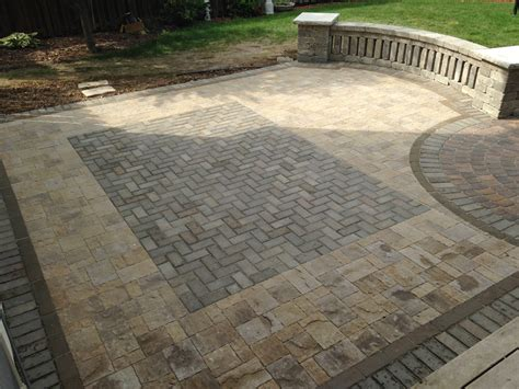 brick and paver patio designs different types of paver