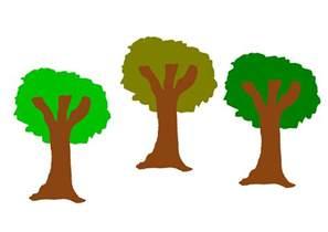 tree at the clipart the three trees
