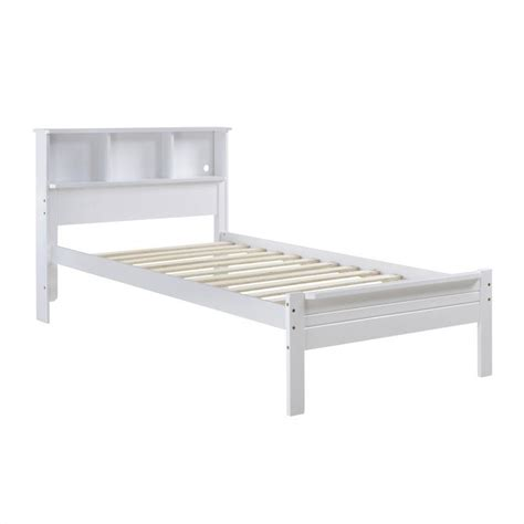 single bed with bookcase headboard in white baf 510 s
