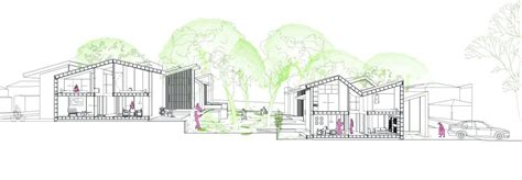 sectional perspective gallery of in gawa community housing proposal index