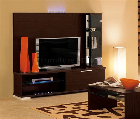 wall unit images dark brown finish modern stylish wall unit at furniture