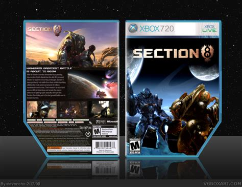 section 8 section 8 section 8 xbox 360 box art cover by stevencho