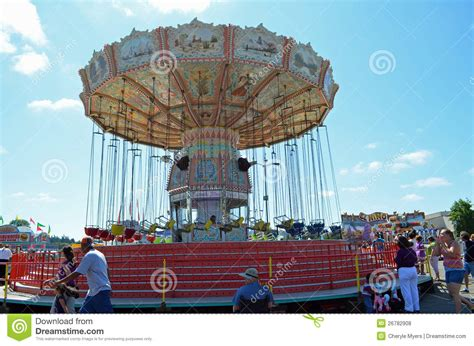 swing ride at fair fair swing ride editorial stock photo image 26782908