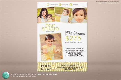 5x7 Mini Session Marketing Flyer Flyer Templates Creative Market Free Photography Marketing Templates 2