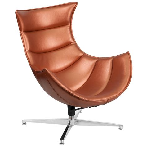 flash furniture copper leather swivel cocoon chair zb36