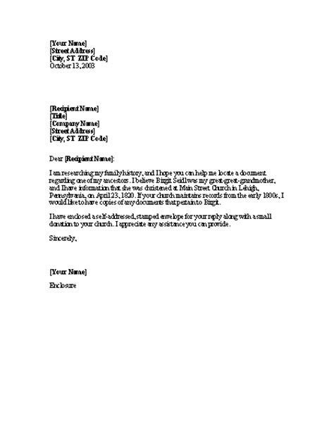 Requesting A Letter Template Best Photos Of Letter Requesting Information Template