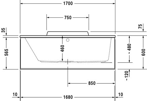 altezza vasca da bagno duravit durastyle vasche vasca 700294 di duravit