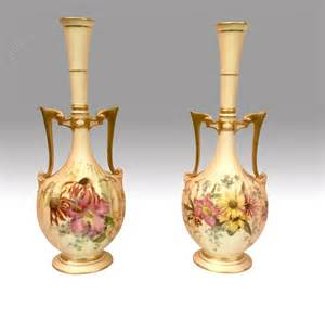 Royal Worcester Vases by Antiques Atlas Stunning Pair Of Antique Royal Worcester
