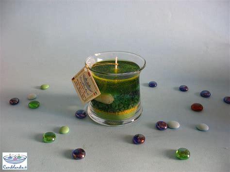 candela di cera candela di cera gel in vetro quot ipazia quot per la casa e per