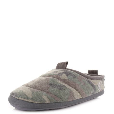 men bedroom slippers mens bedroom athletic hackman green camo fleece lined camo