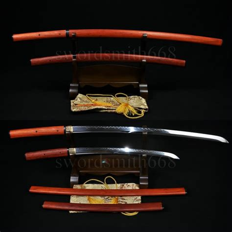 Pedang Katana Sirasaya Kanji traditional forged japanese shirasaya sword set