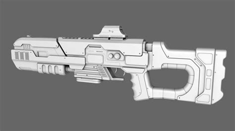 3d gun image 3d home architect sci fi rifle gun 3d model obj cgtrader com