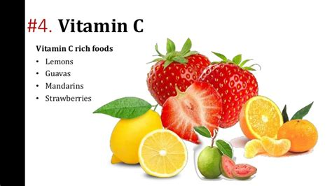 7 Delicious Foods With Vitamin C by Essential Vitamins For Hair Growth