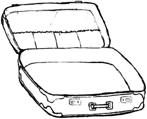 blank suitcase template open suitcase clipart clipart best