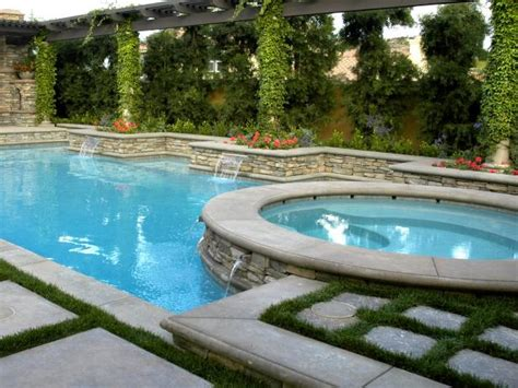 Backyard Pool And Spa Luxurious Design For Outdoor Rooms Hgtv
