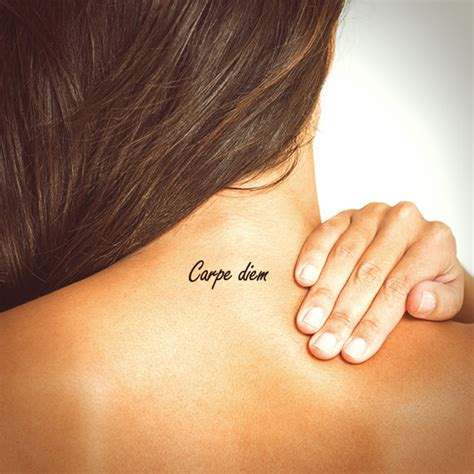 carpe diem tattoo typography tattoo temporary tattoo