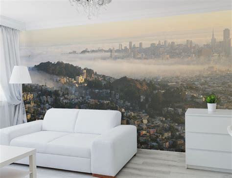 panoramic wall murals san francisco panoramic skyline wall mural by eazywallz 187 gadget flow