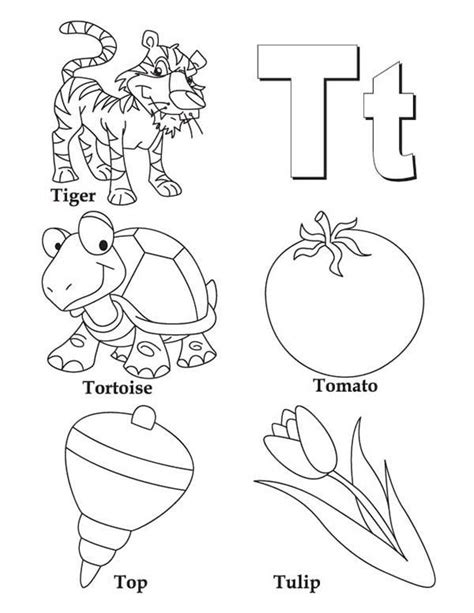 coloring pages with letter t t coloring pages coloring home