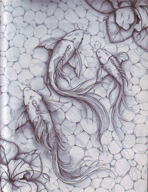 koi pond thediabeticspoon drawing realistic and stylish koi fish by dennis adriano at coroflot com