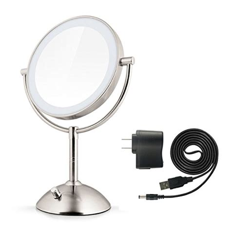 oval lighted makeup mirror dokpav 174 oval sided cosmetics mirror warm lighted