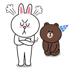 Kaos Line Emoticon Brown 16 yes it s finally happened brown cony are secretly