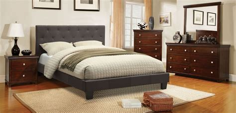 leeroy gray fabric platform bedroom set from furniture of