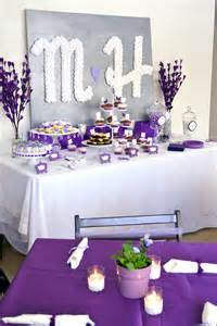 Wedding Centerpieces On A Budget Pretty Purple Bridal Shower