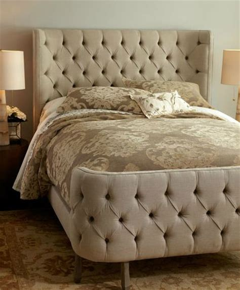 tufted linen larkspur bed