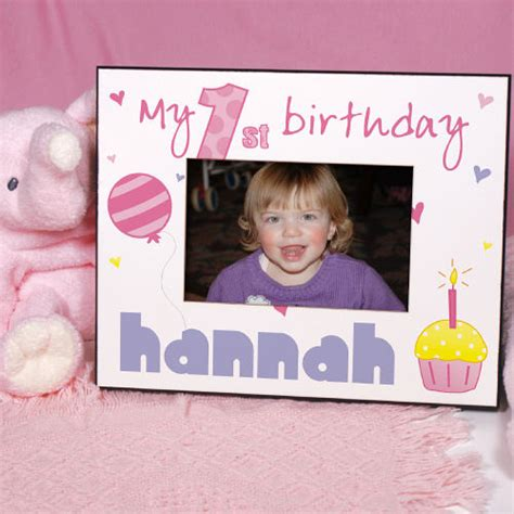 Giveaways For 1st Birthday Baby Girl - baby girl s 1st birthday printed frame