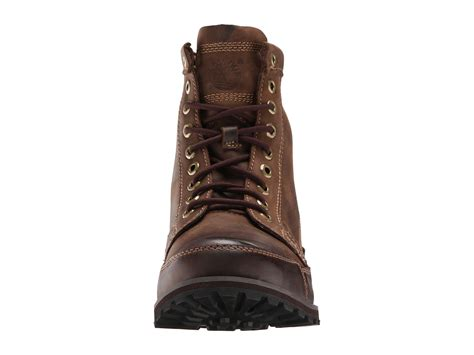 timberland earthkeepers rugged original leather 6 boot timberland earthkeepers 174 rugged original leather 6 quot boot at zappos