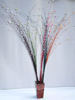 Vase Decoration Sticks by Bali Flower Decoration Coconut Stick With Flower And Bead Handicrafts From Bali