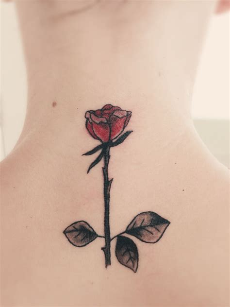 rose and stem tattoo pin with stem 2nd color as an apprentice on