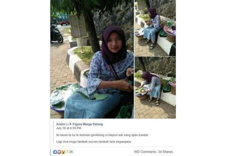 berwajah manis penjual klepon  bikin netizen penasaran