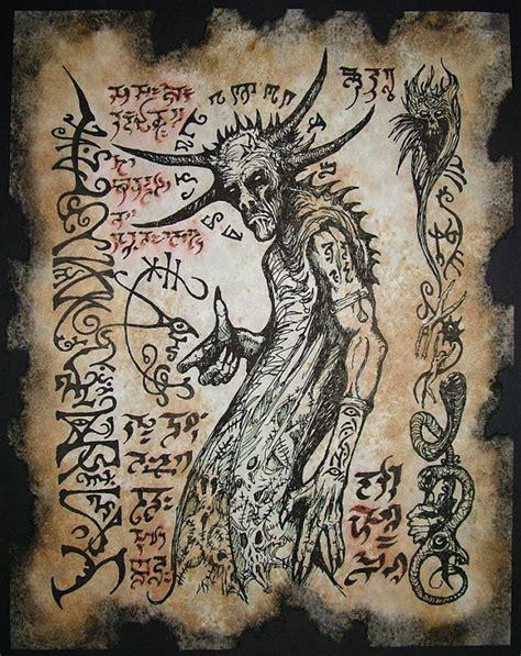 libro the occult witchcraft eldritch devil cthulhu larp necronomicon scrolls dark by zarono