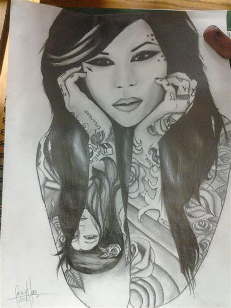 kat von d portrait tattoo portrait of d by medusamae on deviantart