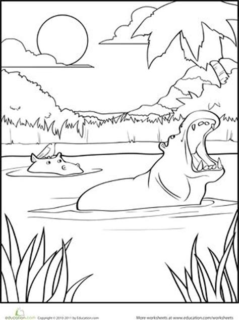 happy hippo coloring page 17 best images about coloring pages on pinterest