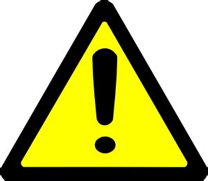 warning sign clip art free vector / 4vector