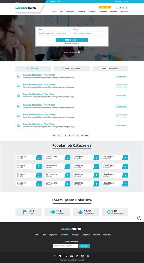 website layout jobs jobs platform website design free psd design
