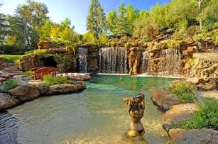 Home Decor Dallas by Naturalistic Pools With Grotto Tropical Pool Los
