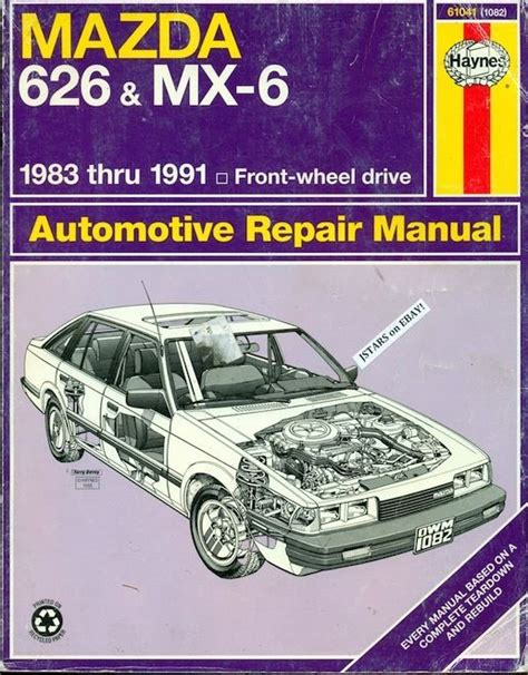 free service manuals online 1990 mazda mx 6 spare parts catalogs 1983 1984 1985 1986 1987 1988 1989 1990 1991 mazda 626 and mx 6 repair manual ebay