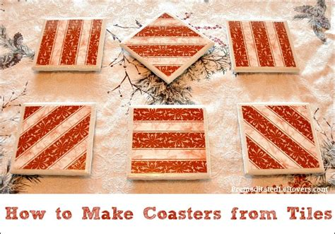 how to make coasters out of tiles and scrapbook paper 28