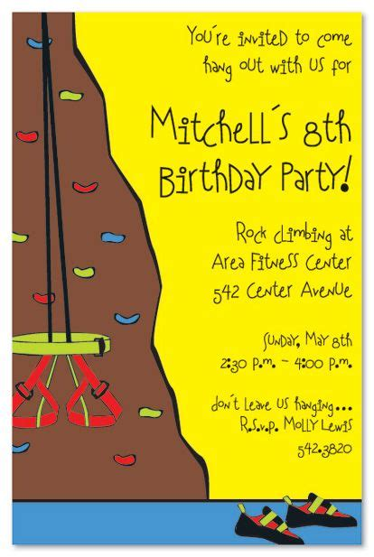 21 Best Images About Climbing Birthday Party On Pinterest Birthday Party Invitations Big Kids Rock Climbing Log Book Template