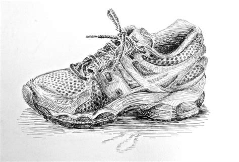running shoe drawing pen and ink running shoe by manukahoney7 on deviantart
