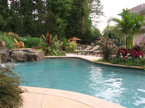 poolside landscaping swimming pool landscaping ideas inground pools nj design