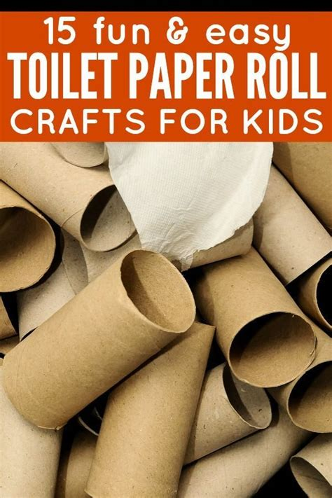 Toilet Paper Roll Crafts For Toddlers - 15 easy toilet paper roll crafts for toilet