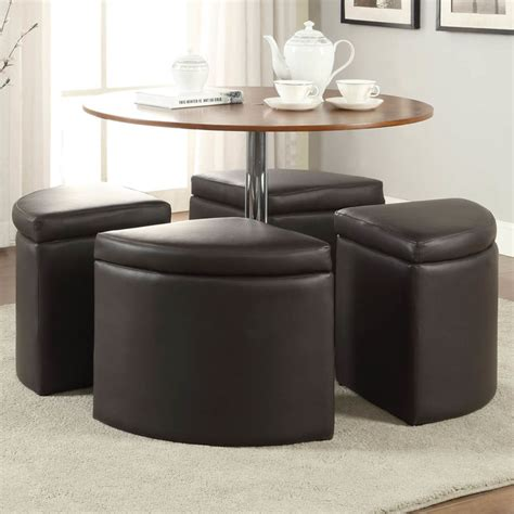 brown coffee table set with ottoman modern coffee
