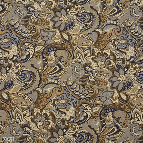 blue pattern upholstery fabric beige and dark blue tan abstract paisley upholstery fabric