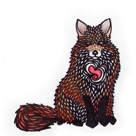 Foxy True Color foxy feeing ink colored pencil 2016